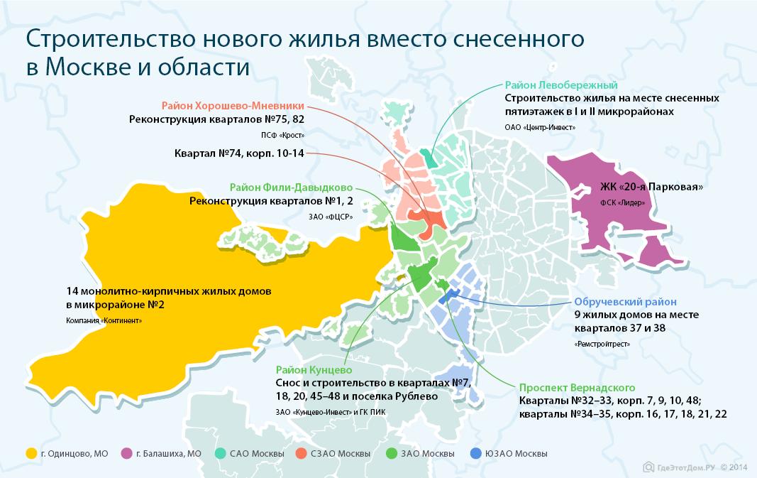 Карта строительства нового