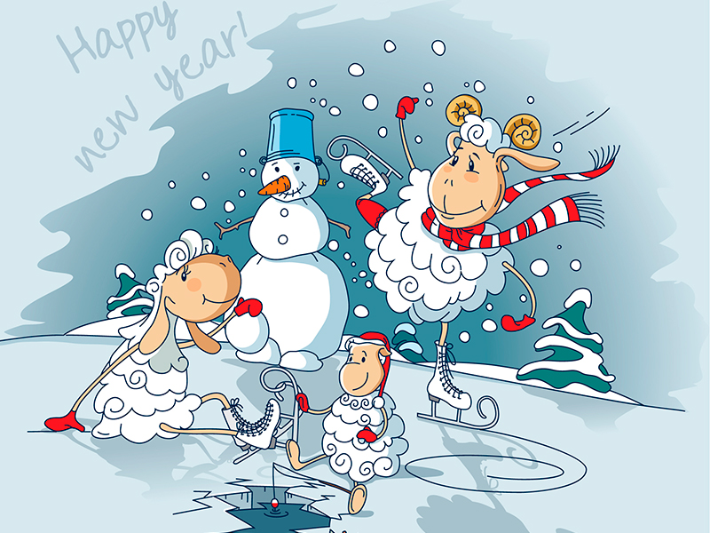 Смс поздравления юмор новый год